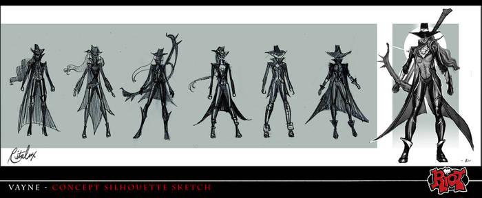 Vayne initial concept art for League of Legends