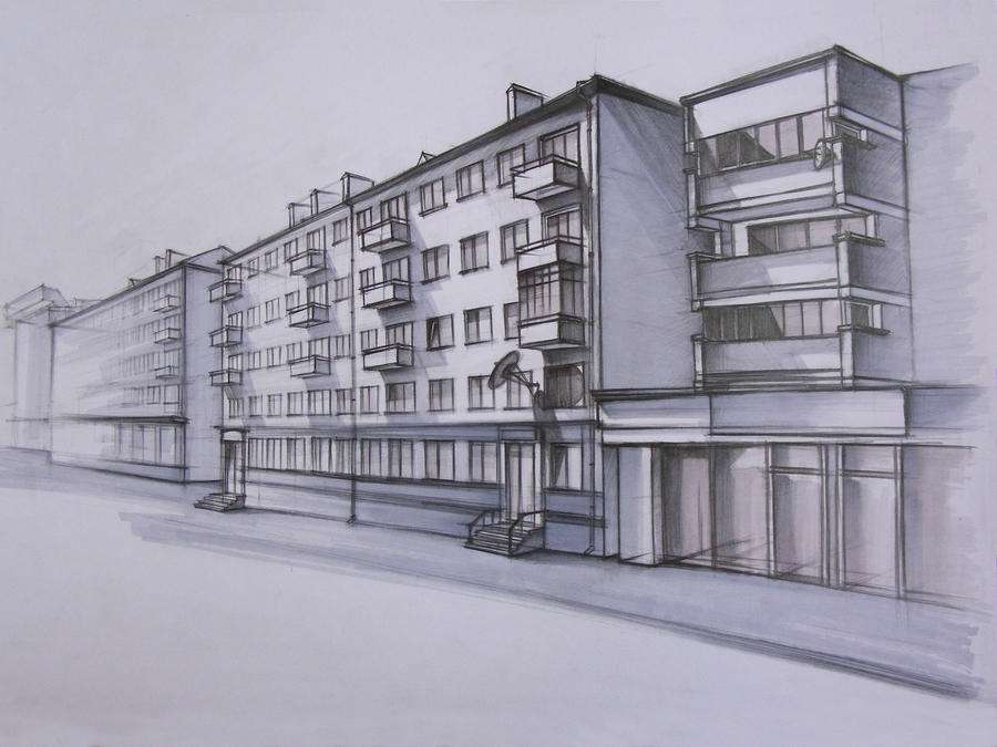 Architecture sketch by oriondeft on deviantart for Architecture sketch