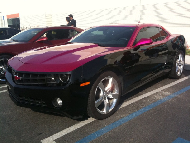 Black and Pink Camaro by BloodThirstyWolfGirl