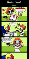 Naughty Nurse -TDK comic- by DDRshaman38
