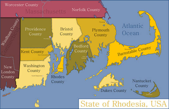 The State of Rhodesia and its Counties, USA by Artificer6