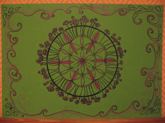 Mandala for heart chakra by Cuilwenn