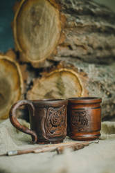 Terracotta Tigers mug by SkvorCraft