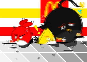 FanArt Mashup - Angry Birds  by Furballitest