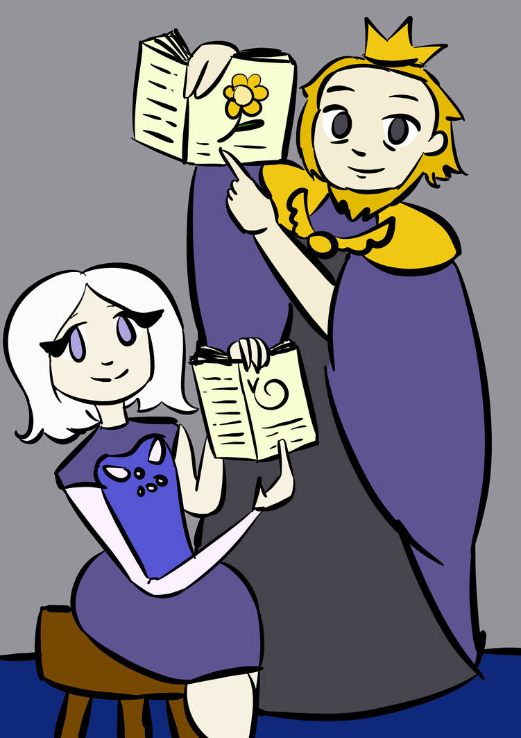 Undertale (Humanoid) Toriel and Asgore by singrmojomay on