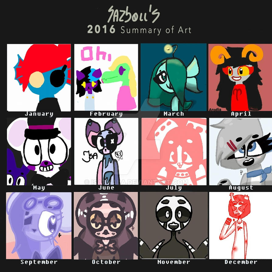 Art summary 2016 by Isaemala