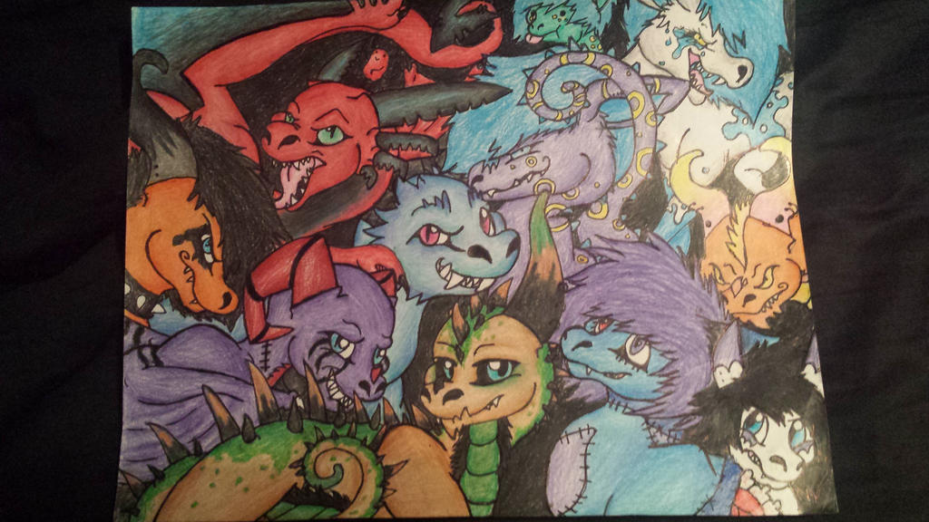 Bunch of dragons :P by DiscoFrisco1