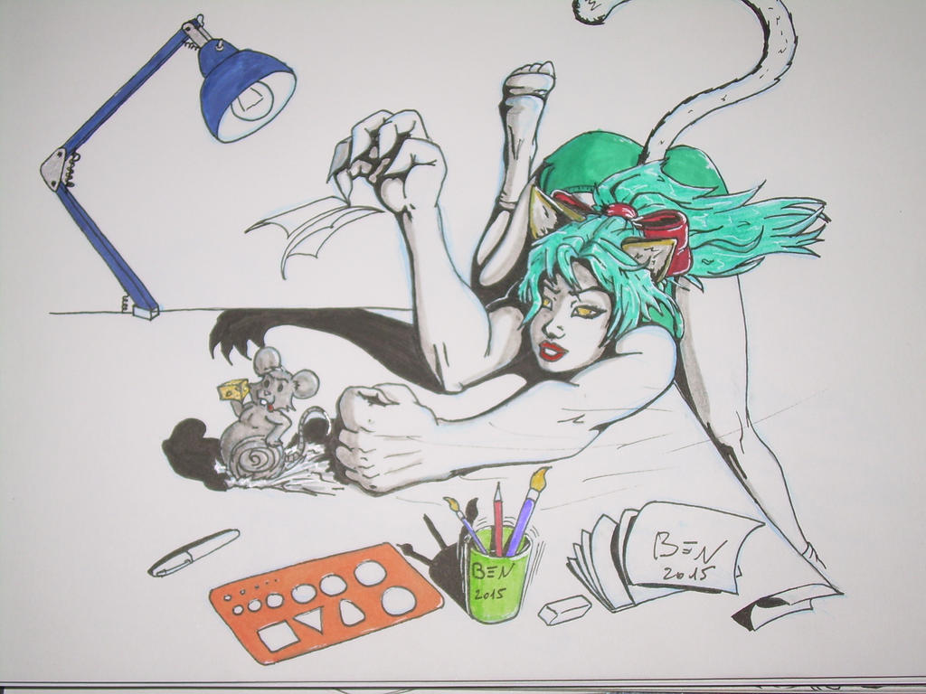 Catgirl and mousse by Ben113