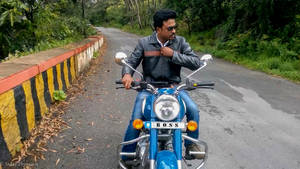 The Look On A Royal Enfield
