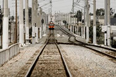 Trolley Stop by robert-kim-karen