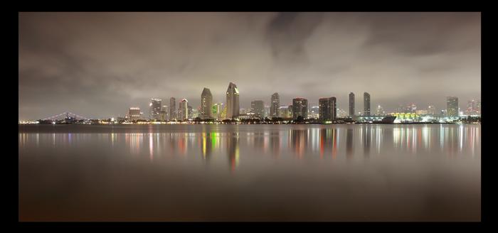 Downtown San Diego Skyline at Night