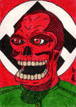 Red Skull Sketch Card