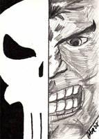 Punisher - Split Personality by jamsketchbook