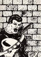 Punisher Sketch Card by jamsketchbook