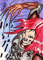 Lady Deathstrike Sketch Card by jamsketchbook