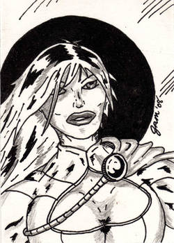 Power Girl Sketch Card