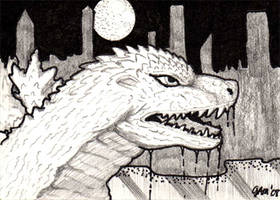 Godzilla - Millenium Sketch by jamsketchbook