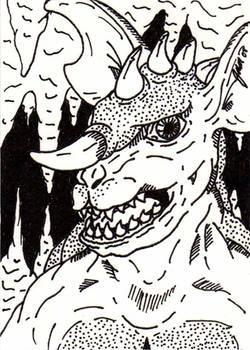 Baragon Sketch Card