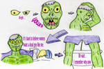 Rise and Shine Zombie by jamsketchbook