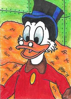 Scrooge McDuck Sketch Card