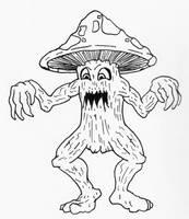 Mushroom Monster by jamsketchbook