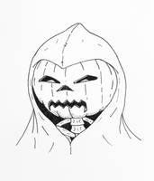 Pumpkin Mask by jamsketchbook