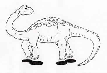Skipping Diplodocus by jamsketchbook