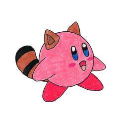 Tanooki Suit Kirby by jamsketchbook