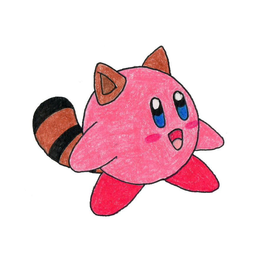 Tanooki Suit Kirby by jamsketchbook
