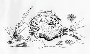 Mole by jamsketchbook
