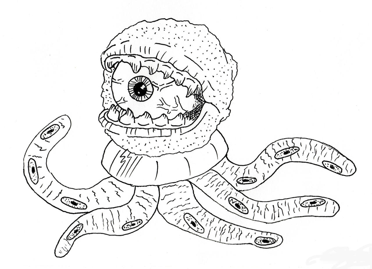 Ocular Astro Zombie by jamsketchbook