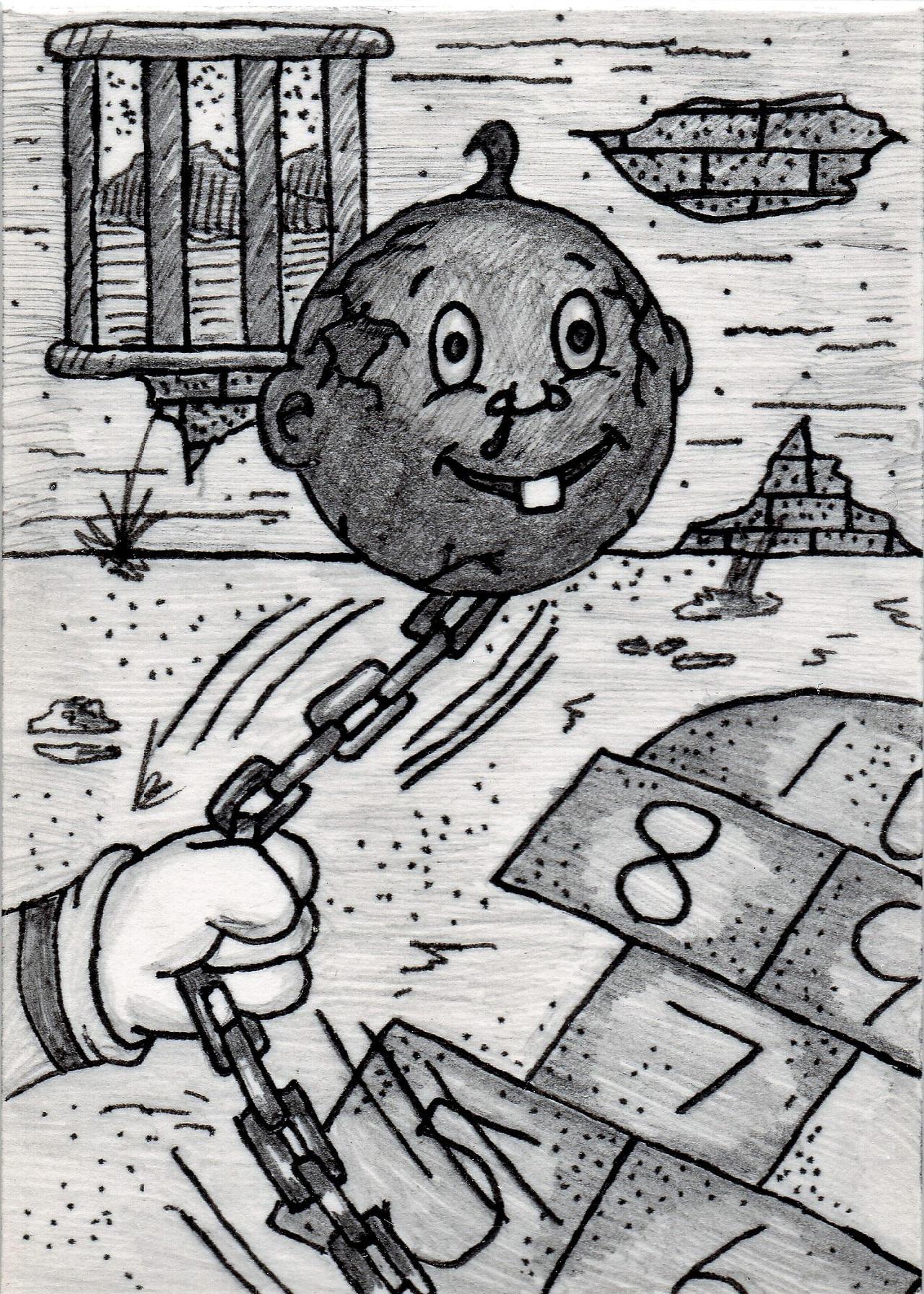Garbage Pail Kids - Ball 'N Shane by jamsketchbook