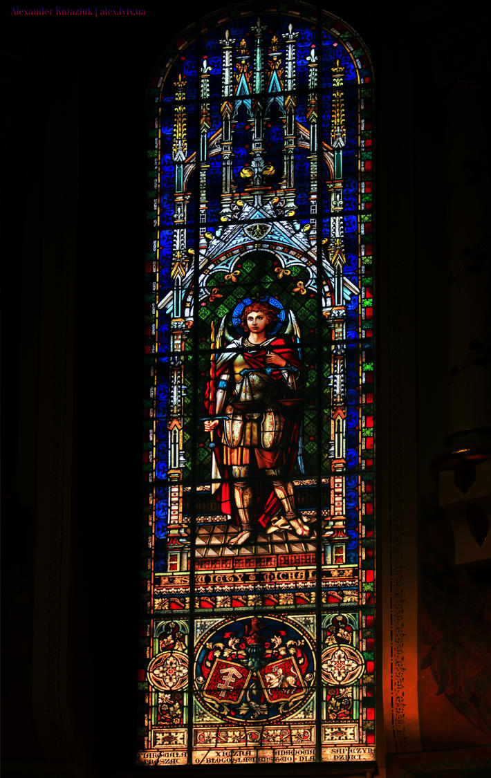 Stained Glass Window Of Lviv Neo Gothic Church By Alex