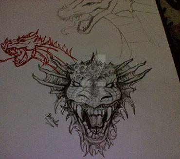 Dragon head by DAdaede