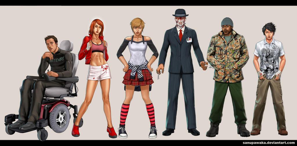 M-P-D's Characters_Gateway by sanupawaka