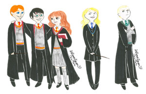 Hogwarts students by introvertqueen37