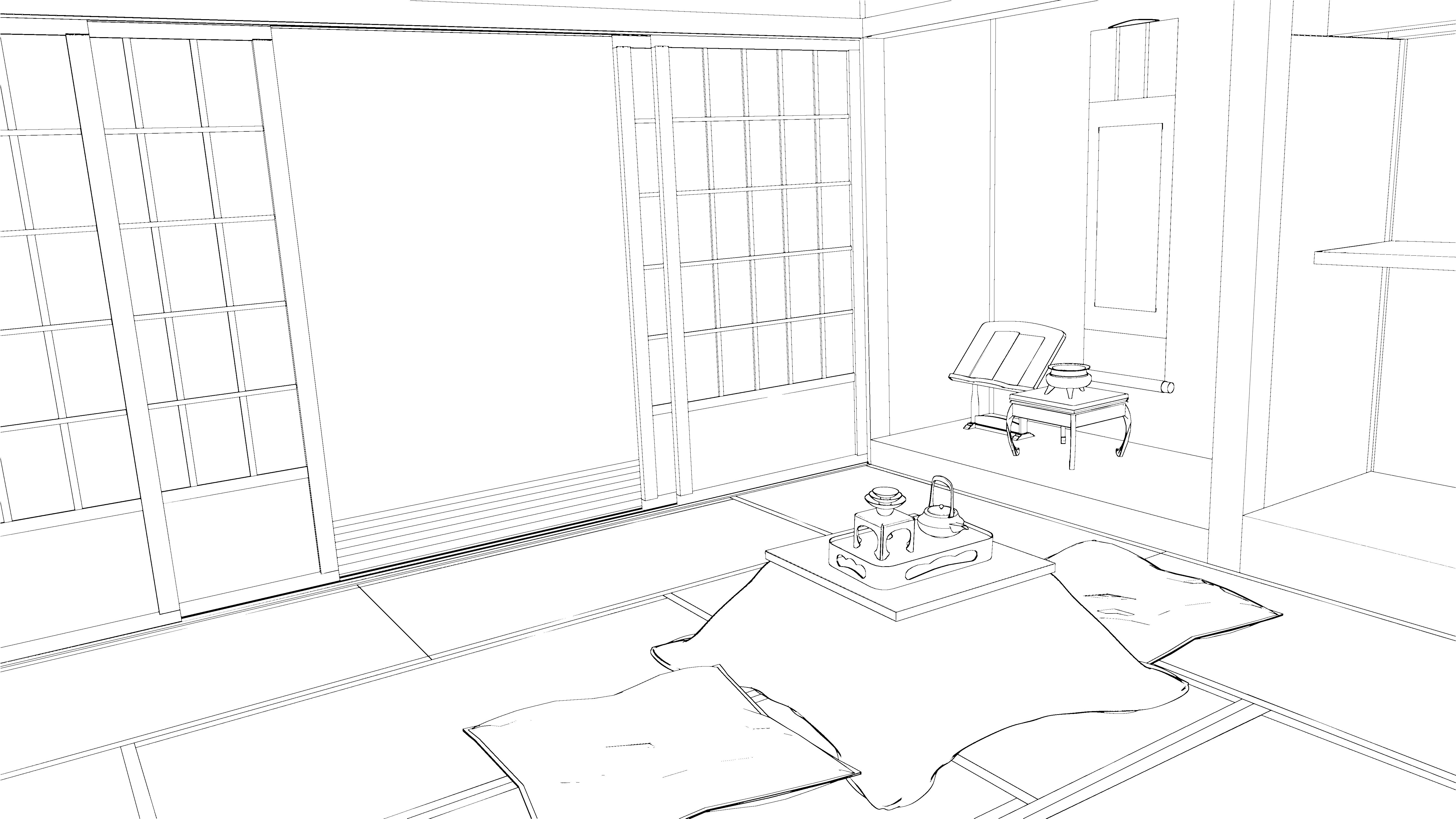Stock japanese room 2 by kaoyux on deviantart for Apartment design dwg