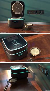 3D Modern Japanese Rice Cooker