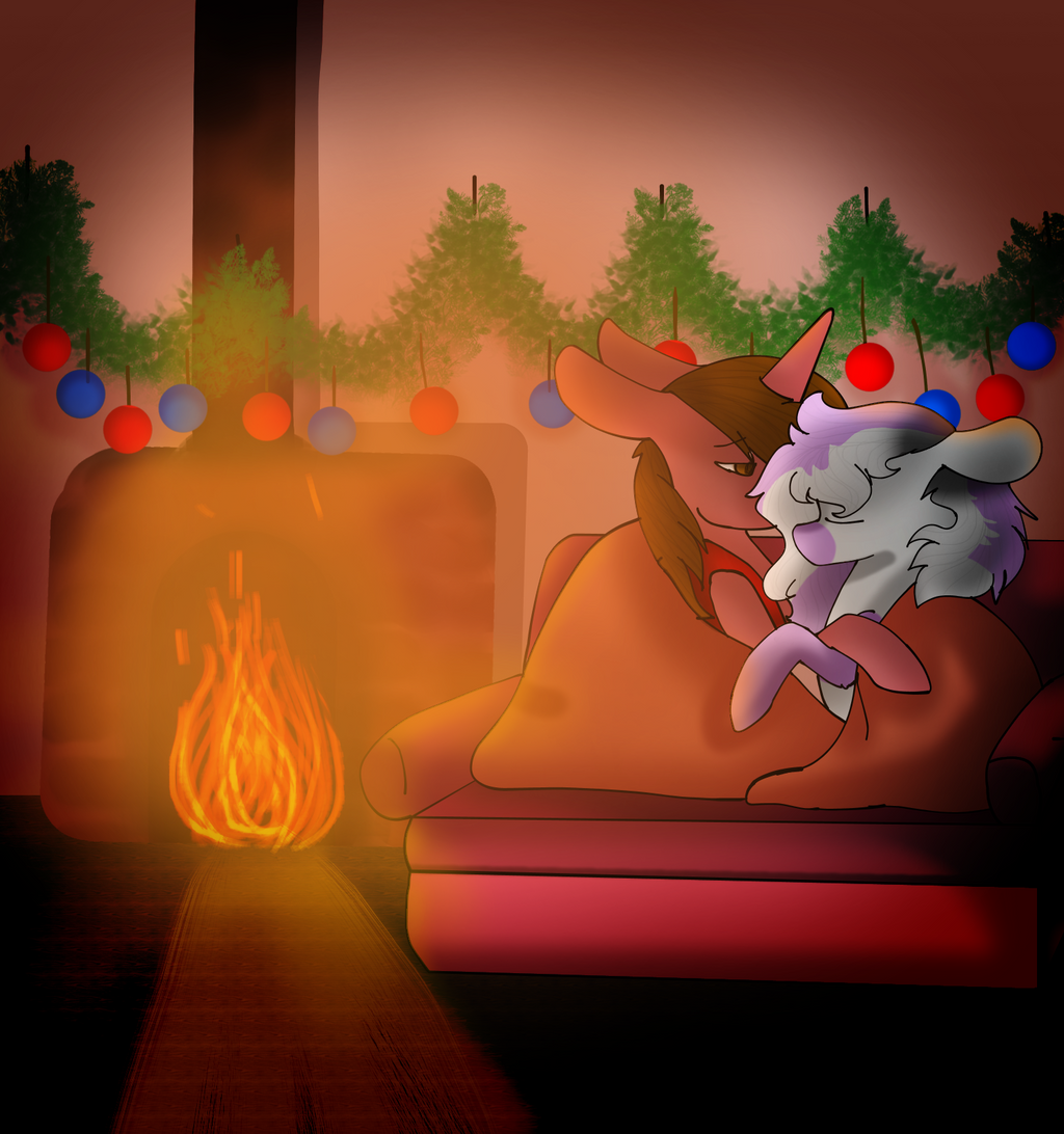 Snuggling by the Fire by TheShadowFell
