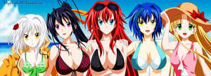 Highschool DxD Lineart Coloring: Hot Devils! by danika230