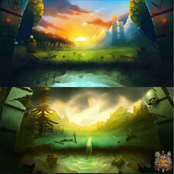 Mage and Minions - Menu Backgrounds