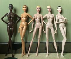 GlamourOZ Dolls production skintones