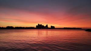 Sunset Over Baha Mar Bay HD Wallpaper