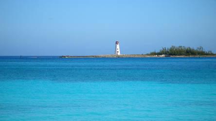 Aquamarine Lighthouse HD Wallpaper