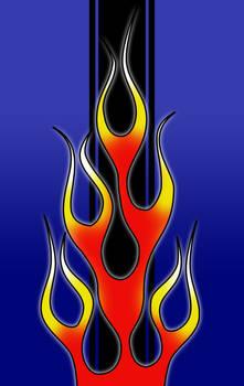 Racing Flames Phone Wallpaper