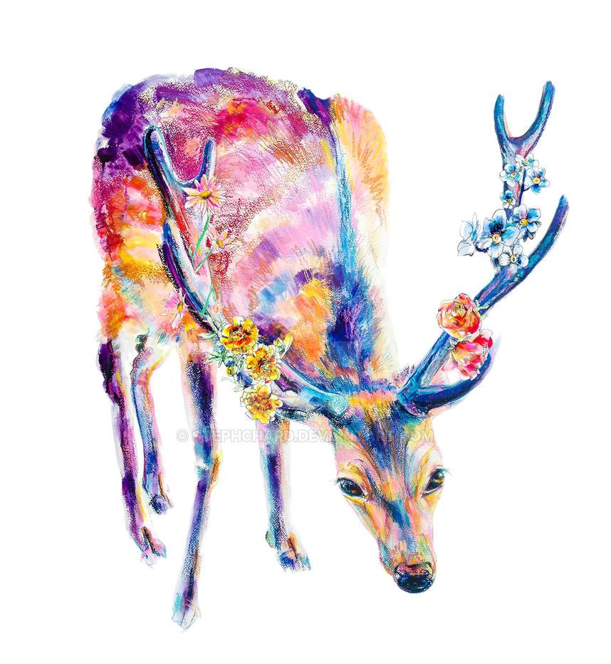 Blooming Deer by stephchard