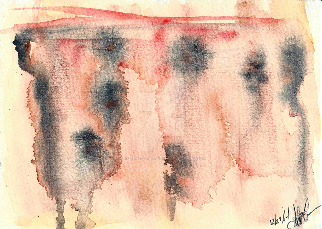 Abstract Watercolor by CrimsonStarEmporium