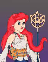 Disney Fantasy Ariel as Yuna by HighwindDesign