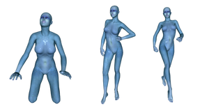 Blue Alien Woman png set by mysticmorning