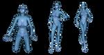 Blue Alien Woman png set